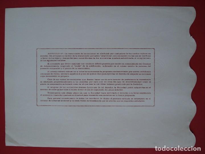 Coleccionismo Acciones Españolas: ACCION AUXILIAR INDUSTRIAL, S.A - 500 PTS.- AMOREBIETA -1971 - 23X31 CM. -NUMERADA 27127.. R-5092 - Foto 2 - 79101601