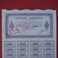 Coleccionismo Acciones Españolas: ACCION CELULOSA ALMERIENSE - 500 PESETAS - MADRID - AÑO 1975 - 25X24,5 CM... R-5111. Lote 79113037