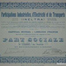 Coleccionismo Acciones Españolas: INELTRA, TRANVÍAS ELÉCTRICOS DE TENERIFE, ISLAS CANARIAS (1929). Lote 80282329