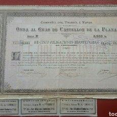 Coleccionismo Acciones Españolas: ACCIÓN COMPAÑÍA DEL TRANVÍA Á VAPOR.(1889). Lote 81923660