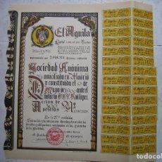 Coleccionismo Acciones Españolas: ACCIÓN FACTORÍA DE CERVEZA EL AGUILA 1965 MADRID. Lote 84576332