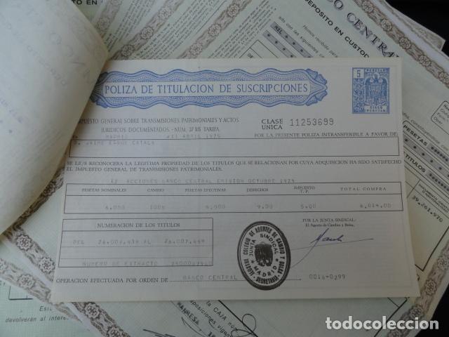 Coleccionismo Acciones Españolas: DEPÓSITO EN CUSTODIA. ACCIONES DEL BANCO CENTRAL. - Foto 3 - 85074664