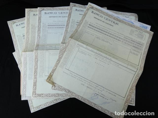 BANCO CENTRAL. DEPÓSITO EN CUSTODIA. ACCIONES DEL BANCO DE FOMENTO. (Coleccionismo - Acciones Españolas)