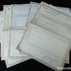 Coleccionismo Acciones Españolas: BANCO CENTRAL. DEPÓSITO EN CUSTODIA. ACCIONES DEL BANCO DE FOMENTO.. Lote 85074956