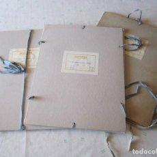 Coleccionismo Acciones Españolas: LOTE 3 CARPETAS ACCIONES HOTURSA CON CINTAS 40 X 31 CM. Lote 85355164