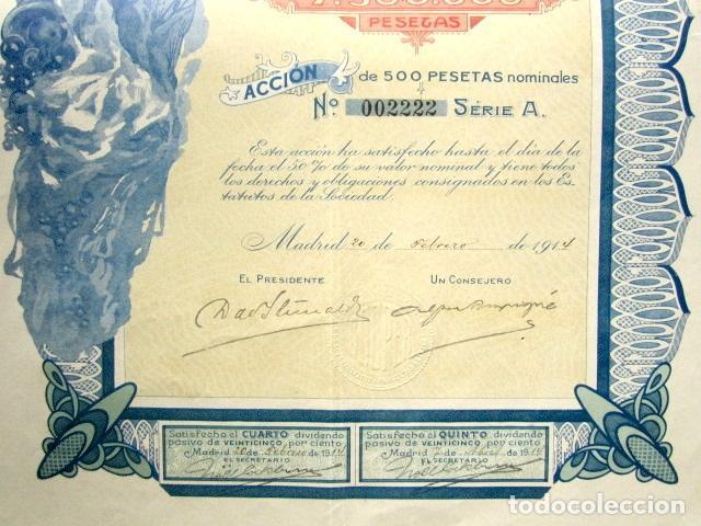 Coleccionismo Acciones Españolas: Acción Sociedad Anglo-Española Cooper de Superfosfatos y productos químicos. Madrid, año 1914 - Foto 3 - 112627232