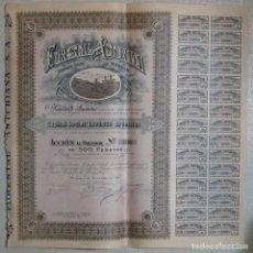 Collezionismo Azioni Spagnole: ACCION FORESTAL ASTURIANA SOCIEDAD ANONIMA MADRID 1921 ANTIGUA ACCIONES. Lote 246751555
