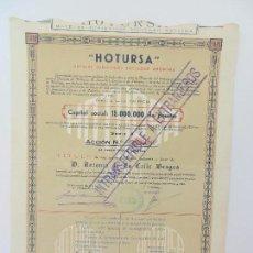 Coleccionismo Acciones Españolas: ACCIÓN NOMINATIVA DE HOTURSA. VALENCIA A 30 DE ENERO DE 1953.. Lote 86636868