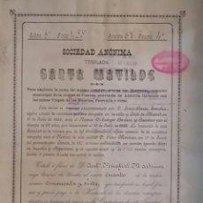 Coleccionismo Acciones Españolas: SOCIEDAD MINERA SANTA MATILDE HERRERIAS CUEVAS ALMERIA 1898 MURCIA. Lote 90057120