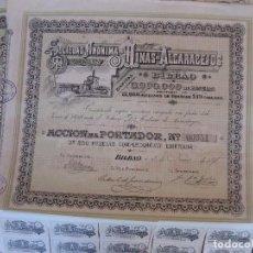 Coleccionismo Acciones Españolas: LOTE DE 2 ACCIONES DE MINAS DE ALCARACEJOS, AÑO 1898. BILBAO, CÓRDOBA.. Lote 92710890