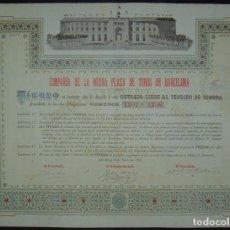 Coleccionismo Acciones Españolas: COMPAÑÍA DE LA NUEVA PLAZA DE TOROS DE BARCELONA - LAS ARENAS (1900). Lote 93902305