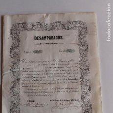 Coleccionismo Acciones Españolas: ACCION DE MINAS, DESAMPARADOS, CONGOSTRINA, GUADALAJARA 1851, SOCIEDAD MINERA DESAMPARADOS. Lote 94365718
