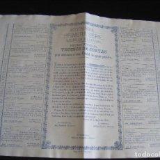 Coleccionismo Acciones Españolas: JML ACCION EMPRESA PARA ABASTECER DE AGUAS POTABLES A LA CIUDAD DE CUEVAS DE ALMANZORA, ALMERIA 1881. Lote 197194740