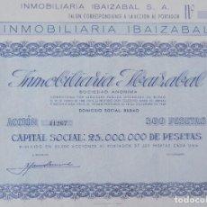 Coleccionismo Acciones Españolas: ACCION INMOBILIARIA IBAIZABAL - 500 PESETAS - BILBAO - AÑO 1946 - 45 X 32,5 CM ... R-6926. Lote 95249412