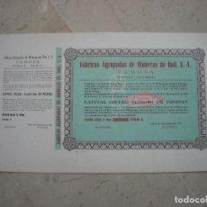 Coleccionismo Acciones Españolas: LOTE DE 13 ACCIONES DE FÁBRICAS AGRUPADAS DE MUÑECAS DE ONIL S.A - FAMOSA.. Lote 98422999
