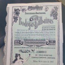 Coleccionismo Acciones Españolas: ACCIÓN DE BODEGAS BILBAINAS (1967). Lote 98673526