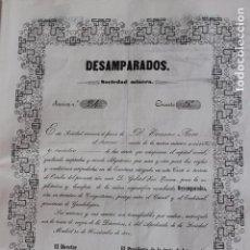 Coleccionismo Acciones Españolas: ACCION DE MINAS DESAMPARADOS, CONGOSTRINA, GUADALAJARA 1851. Lote 99631407