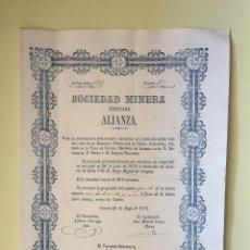 Coleccionismo Acciones Españolas: CUEVAS ALMANZORA- ALMERIA S.M. ALIANZA. Lote 99657939