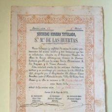 Coleccionismo Acciones Españolas: CUEVAS ALMANZORA- ALMERIA S.M. Sª Mª DE LAS HUERTAS 1.875. Lote 99659035