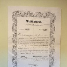 Collectionnisme Actions Espagne: CONGOSTRINA- GUADALAJARA S.M . DESAMPARADOS 1.851. Lote 99666651