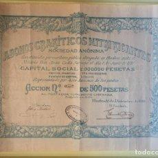 Coleccionismo Acciones Españolas: HUELVA- ABONOS GRANITICOS NITRIFICANTES 1.919. Lote 99709771