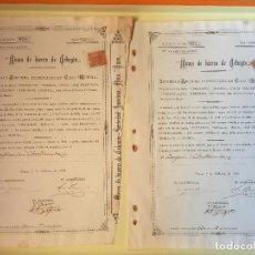 Coleccionismo Acciones Españolas: CEHEGIN- CIEZA MINAS HIERRO DE CEHEGIN 1.901- DOS TITULOS. Lote 149970032