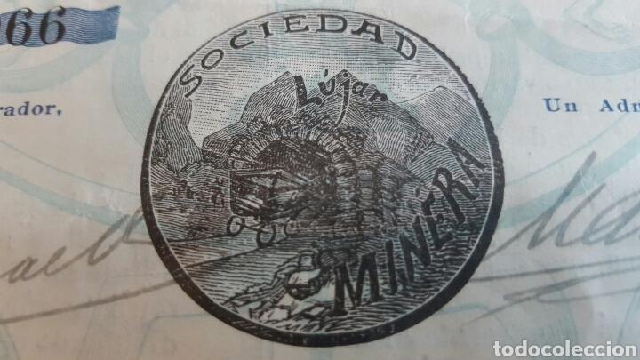 Coleccionismo Acciones Españolas: ACCION MINAS Y PLOMOS SIERRA LÚJAR GRANADA 1913 - Foto 3 - 99806764