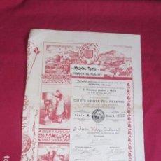 Colecionismo Ações Espanholas: MONTE TORO FABRICA DE QUESOS - MERCADAL MENORCA - 1901. Lote 99946911