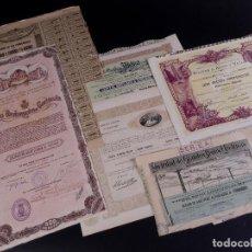 Coleccionismo Acciones Españolas: LOTE DE SEIS ACCIONES ESTATALES. Lote 99994151