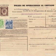 Coleccionismo Acciones Españolas: 2 POLIZAS ANTIGUAS DE BOLSA- OPERACIONES AL CONTADO- 1965. Lote 100043695