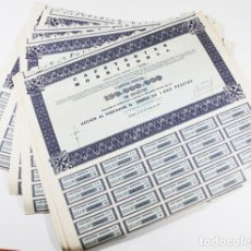 Coleccionismo Acciones Españolas: LOTE 69 ACCIONES CAFETERIAS MORRISON, S.A. CON 24 CUPONES 1971 28,50 X 33,50 CM + DOCUMENTOS. Lote 101099327