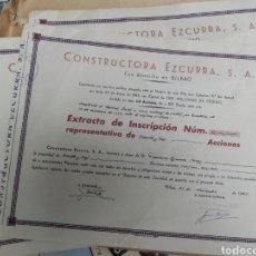 Coleccionismo Acciones Españolas: ACCIÓN EZCURRA CONSTRUCTORA AÑOS 50-60. Lote 101188702