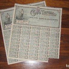 Coleccionismo Acciones Españolas: LOTE DE 2 ACCIONES DE COTO TEULER, BILBAO, 1911. Lote 104799263