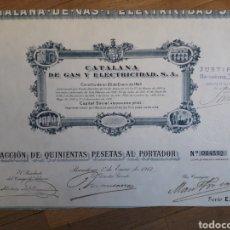 Collezionismo Azioni Spagnole: 1913 - CATALANA DE GAS Y ELECTRICIDAD (GAS NATURAL). Lote 106570290