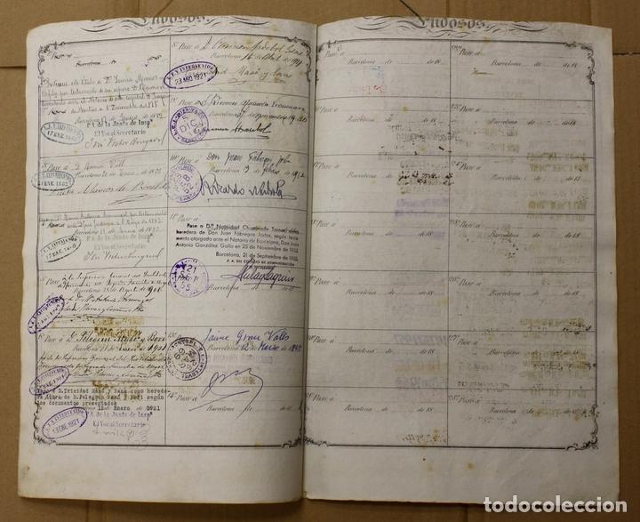 Coleccionismo Acciones Españolas: ACCION LA ESPAÑA INDUSTRIAL. BARCELONA, 1 DE ENERO DE 1854 - Foto 2 - 108981004