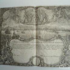 Coleccionismo Acciones Españolas: ACCIÓN DE LA REAL COMPAÑÍA DE COMERCIO ESTABLECIDA EN BARCELONA (S.XVIII). Lote 109320403