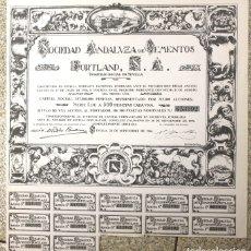 Coleccionismo Acciones Españolas: ACCION SOCIEDAD ANDALUZA CEMENTOS PORTLAND. SEVILLA, 28 DE SEPTIEMBRE DE 1966. Lote 110203868