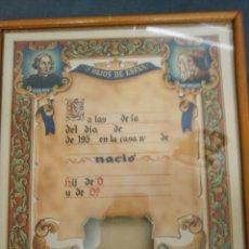 Coleccionismo Acciones Españolas: ORLA DE NACIMIENTO. Lote 110220136