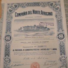 Coleccionismo Acciones Españolas: COMPAÑÍA DEL NORTE AFRICANO (OBLIGACIÓN) 1921. Lote 110839074