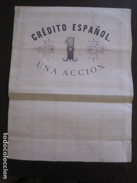 Coleccionismo Acciones Españolas: ACCION CREDITO ESPAÑOL- BARCELONA 1 DE ABRIL 1883 - 500 PESETAS - VER FOTOS -(ACCION 1) - Foto 9 - 112447339
