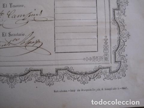 Coleccionismo Acciones Españolas: ACCION ANTIGUA CARBONERA DE SUBIRATS -MINAS - BARCELONA 1860 -VER FOTOS -(ACCION 6 ) - Foto 4 - 112449503
