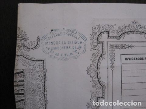 Coleccionismo Acciones Españolas: ACCION ANTIGUA CARBONERA DE SUBIRATS -MINAS - BARCELONA 1860 -VER FOTOS -(ACCION 6 ) - Foto 5 - 112449503