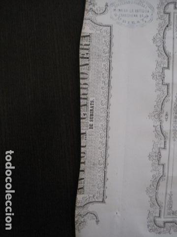 Coleccionismo Acciones Españolas: ACCION ANTIGUA CARBONERA DE SUBIRATS -MINAS - BARCELONA 1860 -VER FOTOS -(ACCION 6 ) - Foto 6 - 112449503
