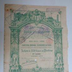 Coleccionismo Acciones Españolas: SOCIETE ANONYME DES EAUX D' ALICANTE.1898. Lote 113088762