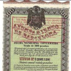 Collectionnisme Actions Espagne: AYUNTAMIENTO DE BARCELONA. Lote 20996146