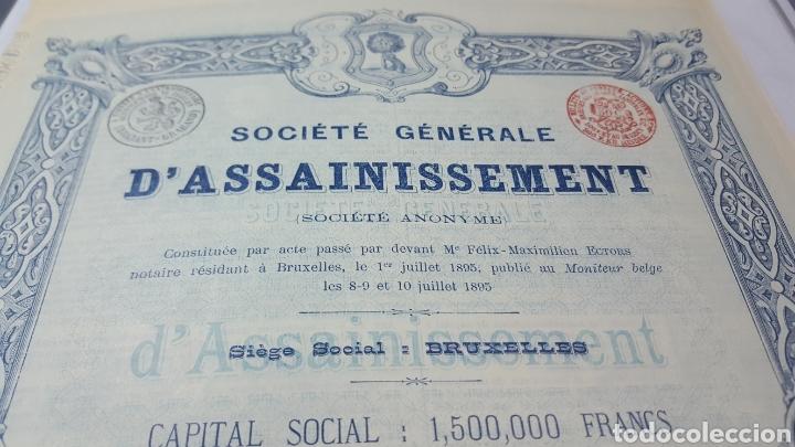 Coleccionismo Acciones Españolas: ACCION SOCIEDAD GRAL DE SANEAMIENTO DE MADRID. 1895. CUPONES - Foto 2 - 115244407