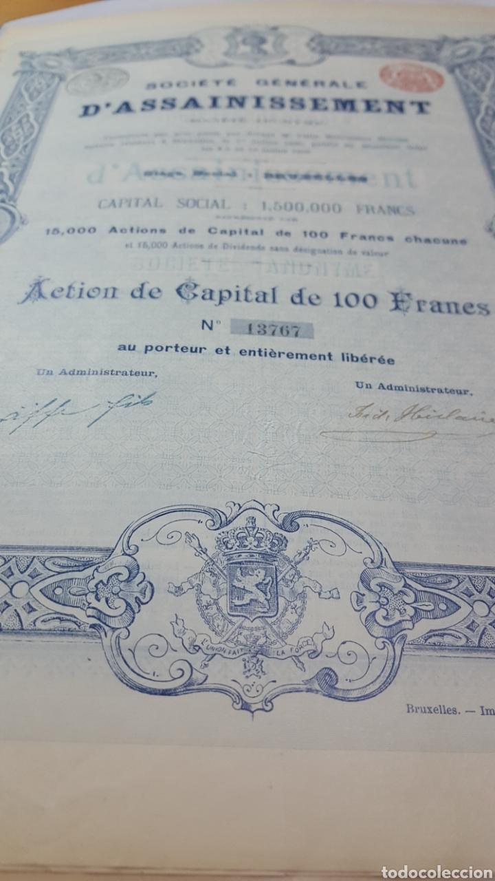 Coleccionismo Acciones Españolas: ACCION SOCIEDAD GRAL DE SANEAMIENTO DE MADRID. 1895. CUPONES - Foto 3 - 115244407