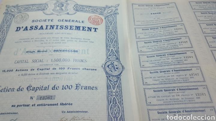 Coleccionismo Acciones Españolas: ACCION SOCIEDAD GRAL DE SANEAMIENTO DE MADRID. 1895. CUPONES - Foto 4 - 115244407