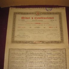 Coleccionismo Acciones Españolas: ACCION MINAS Y CONSTRUCCIONES. BARCELONA 15 MAYO 1888.. Lote 115287019
