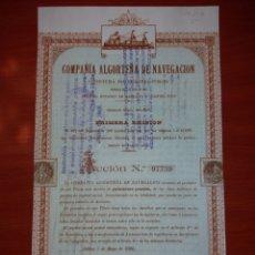 Coleccionismo Acciones Españolas: ACCIÓN CÍA ALGORTENA DE NAVEGACIÓN. BILBAO, MAYO DE 1900.. Lote 115929600
